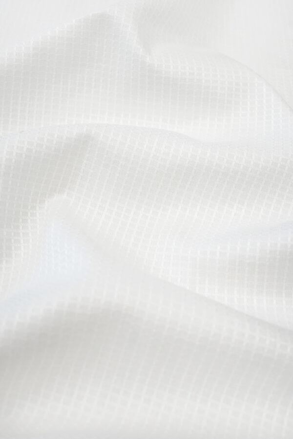 Пике белый с выработкой в клетку (9477) - Фото 6