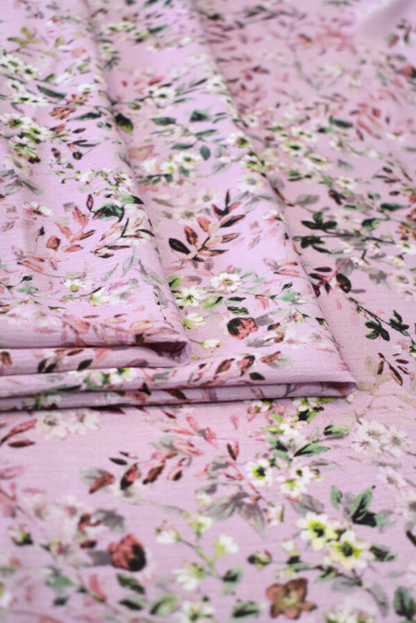 Штапель пыльная роза с мелкими цветочками (9507) - Фото 8