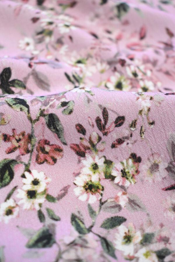 Штапель пыльная роза с мелкими цветочками (9507) - Фото 10
