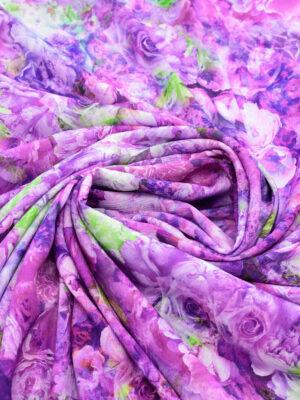 Штапель с фиолетовыми и пурпурными розами (9508) - Фото 17