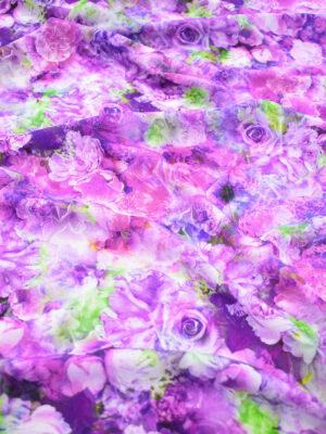 Штапель с фиолетовыми и пурпурными розами (9508) - Фото 16