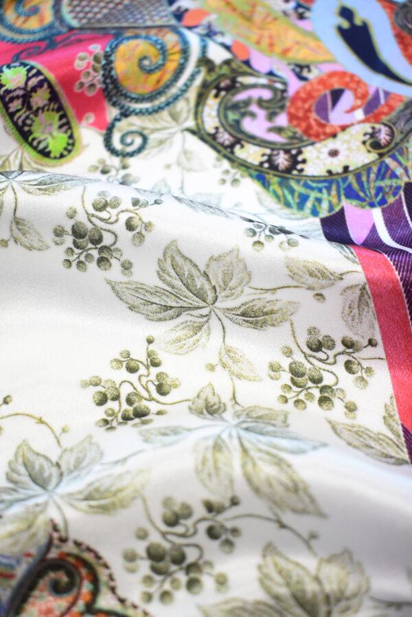 Шармез шелк с цветами пейсли и геометрией (9523) - Фото 10