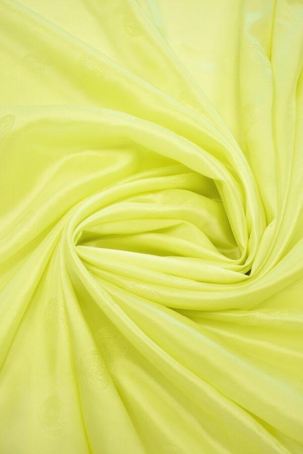 Подклад стрейч кислотно-желтый с монетами (9540) - Фото 9