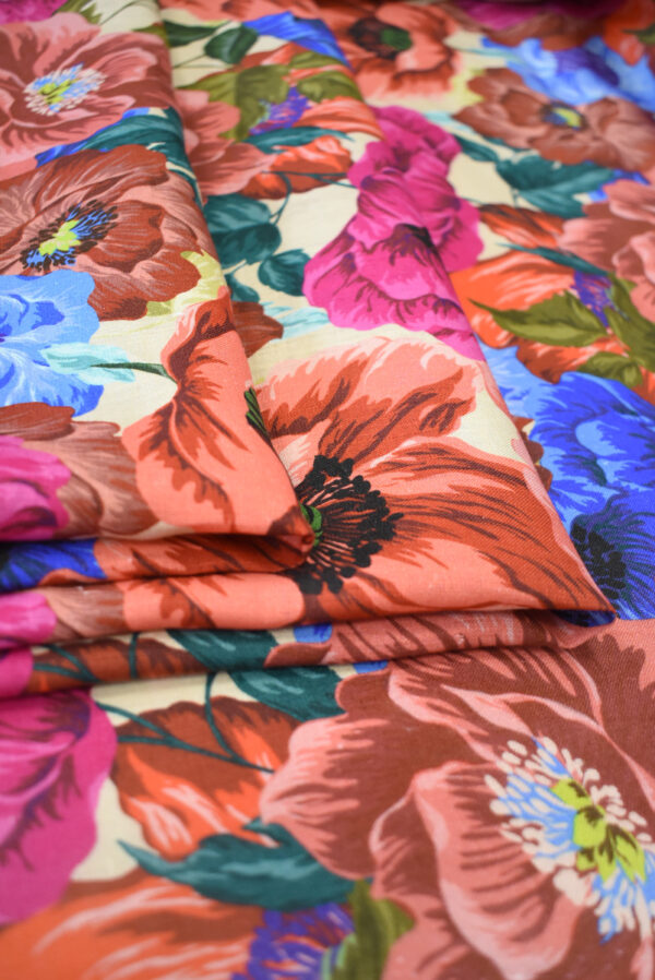Лен с разноцветными маками (9572) - Фото 10