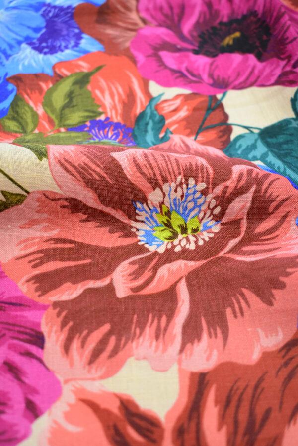 Лен с разноцветными маками (9572) - Фото 11