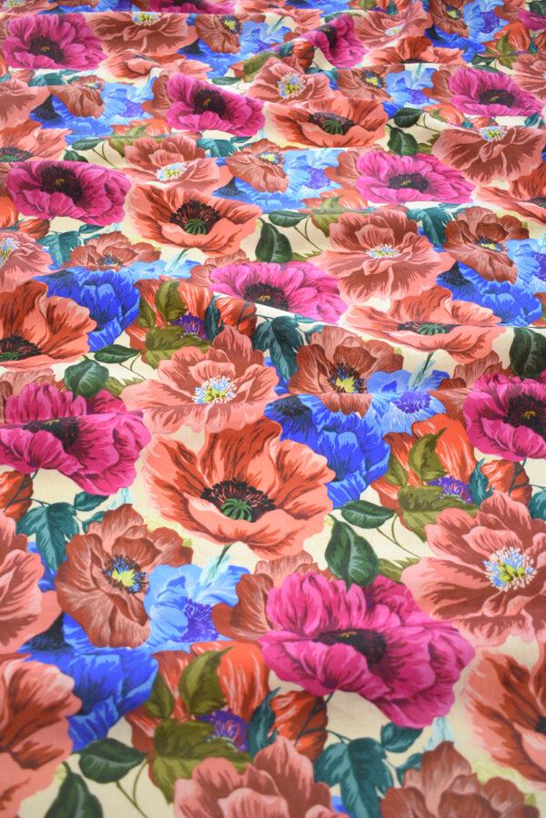 Лен с разноцветными маками (9572) - Фото 6