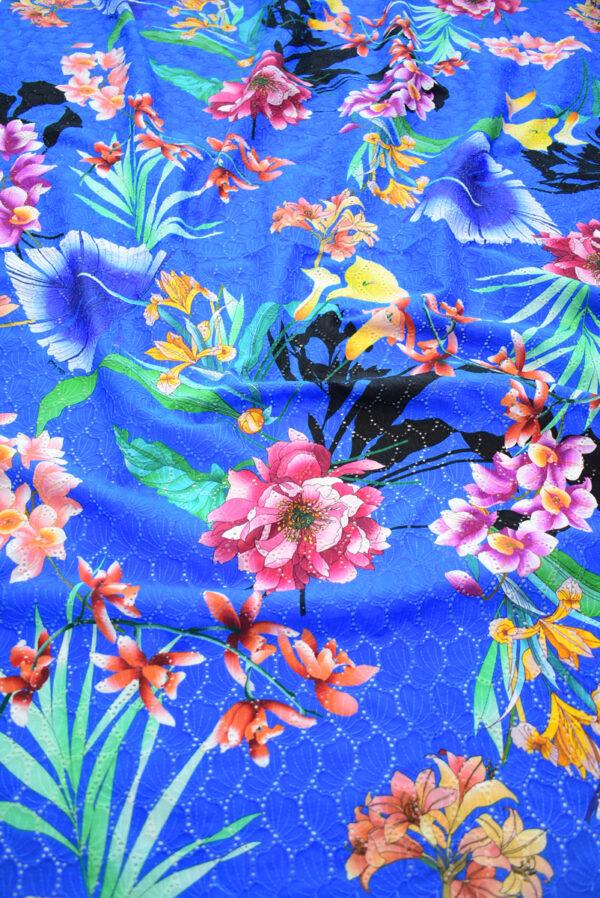Шитье синее с цветами (9581) - Фото 6