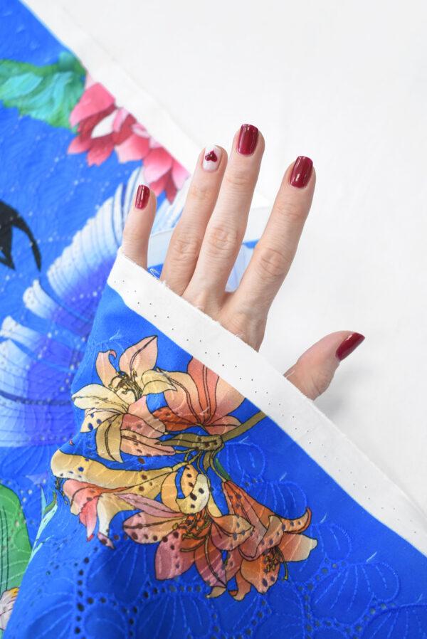 Шитье синее с цветами (9581) - Фото 10