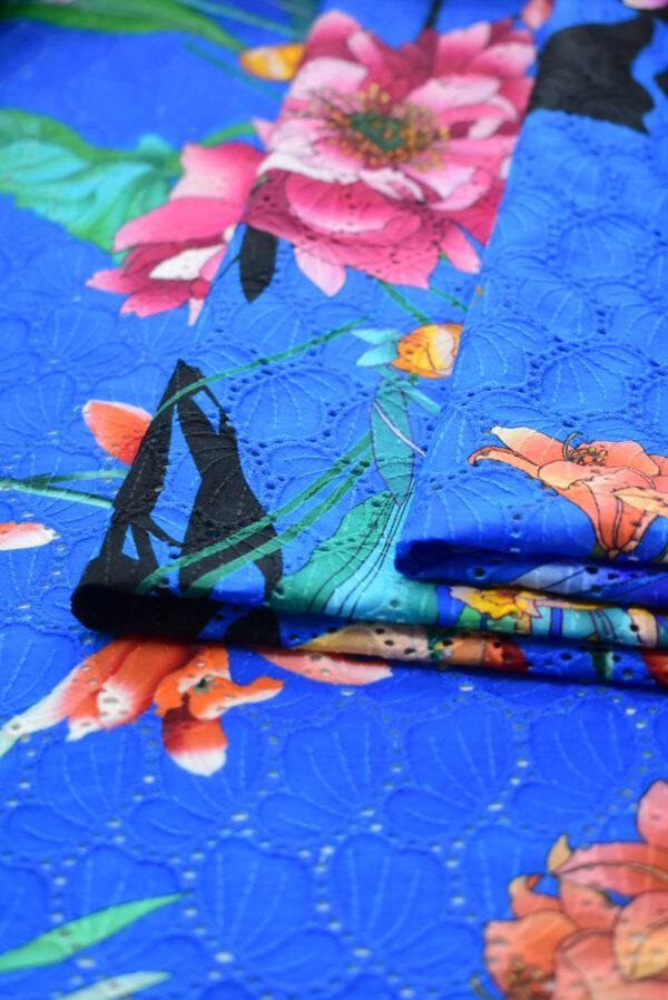 Шитье синее с цветами (9581) - Фото 9