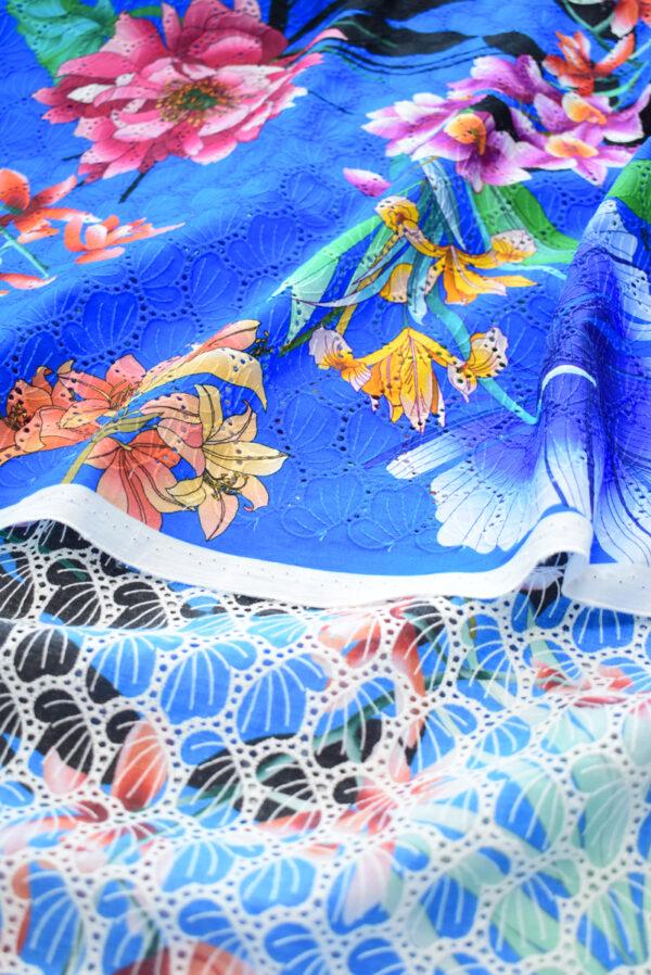 Шитье синее с цветами (9581) - Фото 8