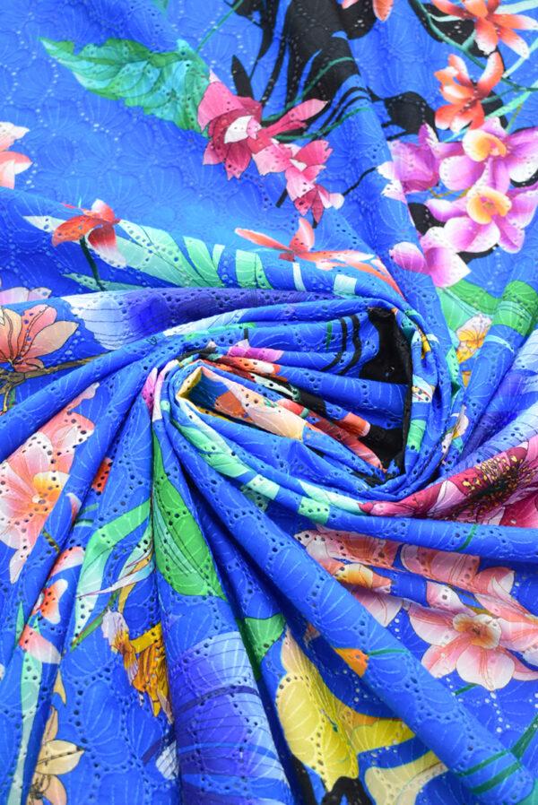 Шитье синее с цветами (9581) - Фото 7