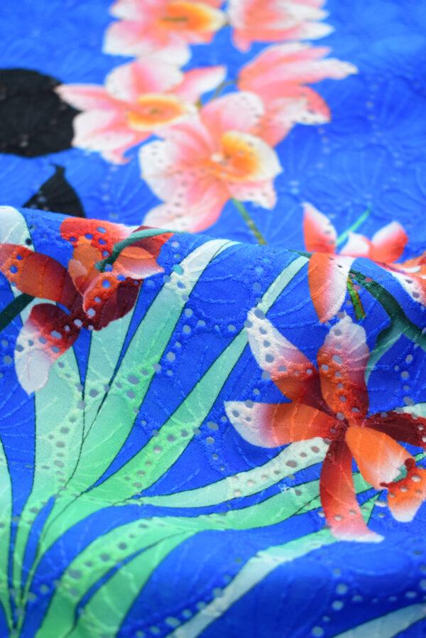 Шитье синее с цветами (9581) - Фото 11