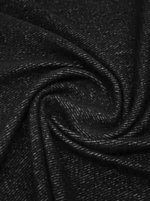 Трикотаж букле черный фактурный (9618) - Фото 14