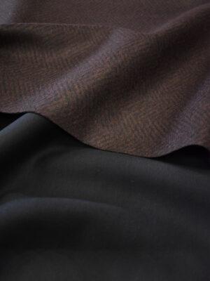 Твид неопрен коричневый в елочку (9621) - Фото 26
