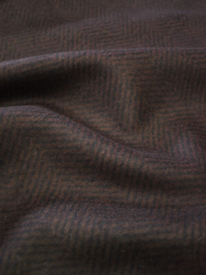 Твид неопрен коричневый в елочку (9621) - Фото 27