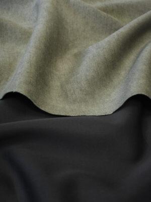 Неопрен стрейч двухсторонний черный с оливковым (9623) - Фото 28