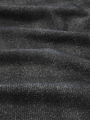 Твид неопрен черный в крапинку с серой изнанкой (9628) - Фото 11