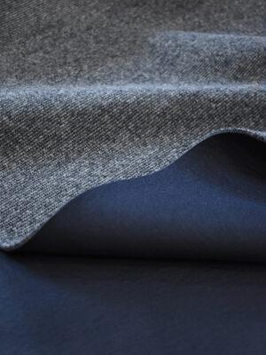 Трикотаж двухсторонний вязаный серый меланж (9602) - Фото 13