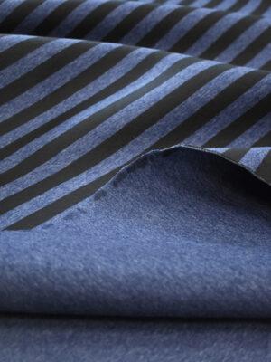 Неопрен синий в черную полоску (9603) - Фото 9