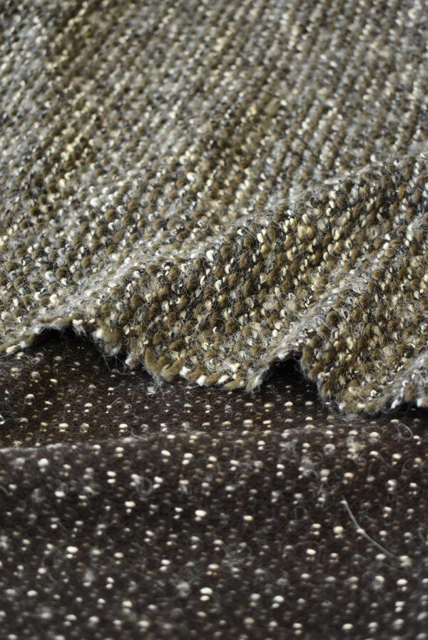 Трикотаж букле дымчатый с коричневым (9610) - Фото 9