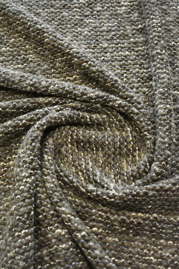 Трикотаж букле дымчатый с коричневым (9610) - Фото 7