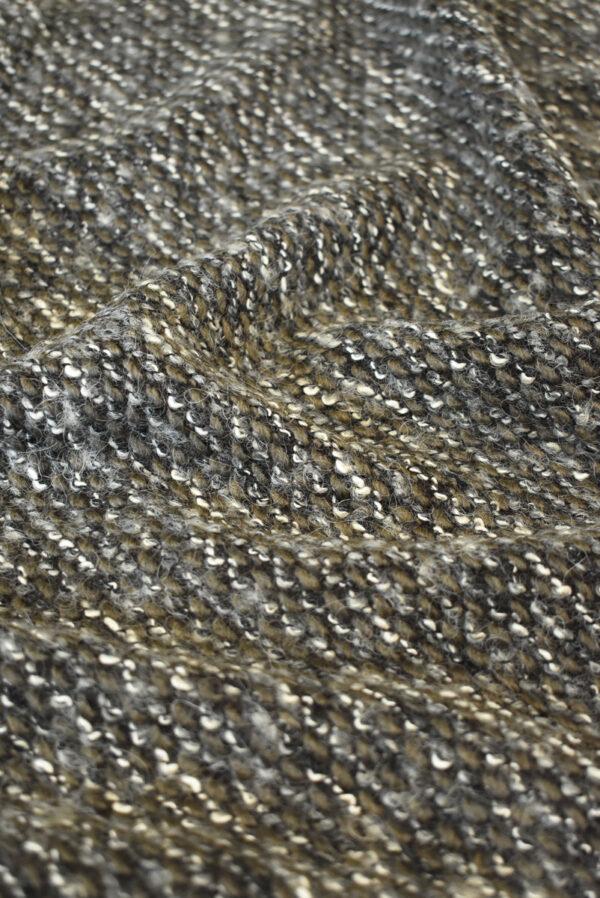Трикотаж букле дымчатый с коричневым (9610) - Фото 6