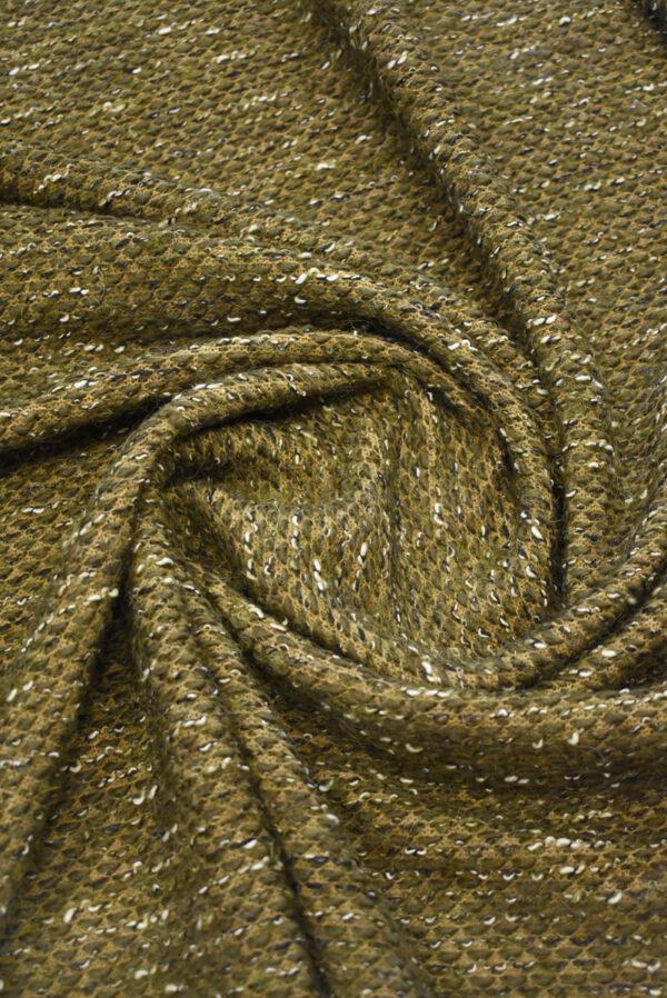 Букле шерсть оливкового оттенка (9611) - Фото 8