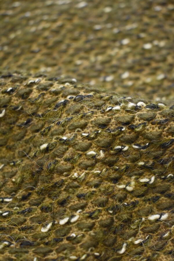 Букле шерсть оливкового оттенка (9611) - Фото 9