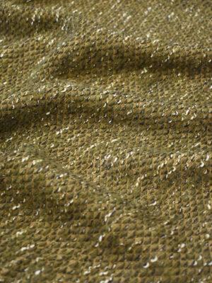 Букле шерсть оливкового оттенка (9611) - Фото 16
