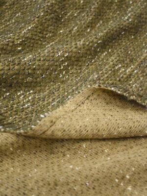 Букле шерсть оливкового оттенка (9611) - Фото 17