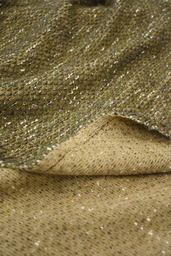 Букле шерсть оливкового оттенка (9611) - Фото 7