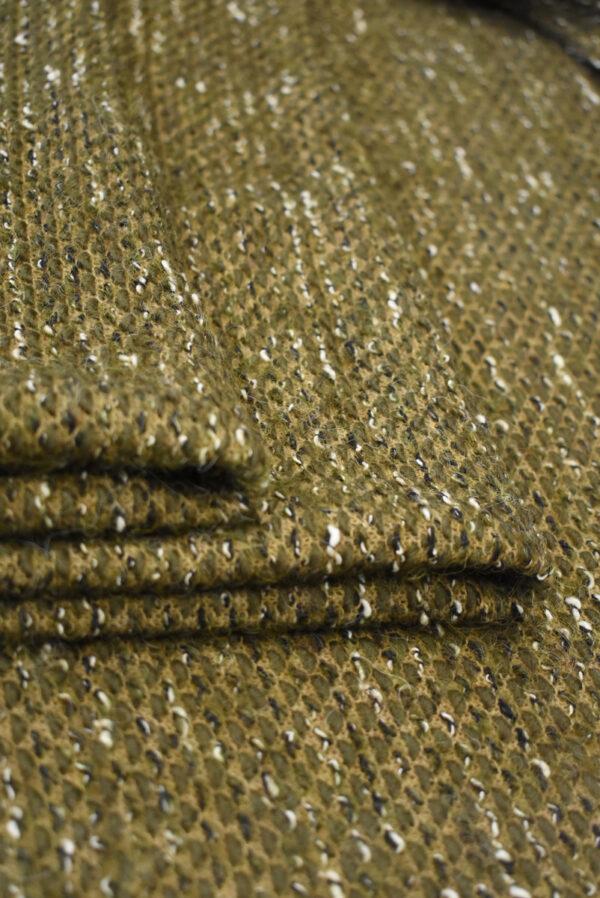 Букле шерсть оливкового оттенка (9611) - Фото 10