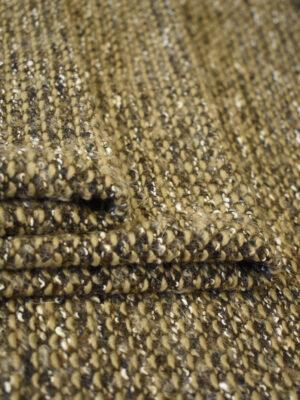 Трикотаж букле бежевый с коричневым (9615) - Фото 15