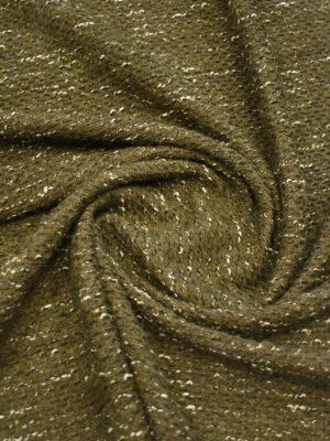 Букле шерсть темно-оливкового оттенка (9665) - Фото 15