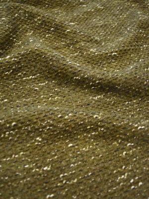 Букле шерсть темно-оливкового оттенка (9665) - Фото 14