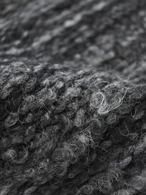 Букле черное с серым меланж (9667) - Фото 13