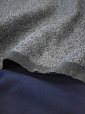 Твид серый с темно-синей изнанкой (9674) - Фото 19