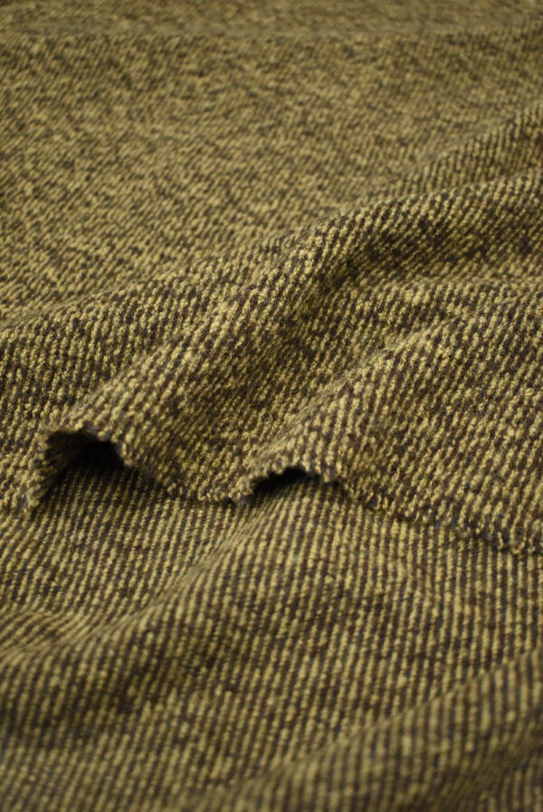 Трикотаж букле коричневый с бежевым меланж (9679) - Фото 9