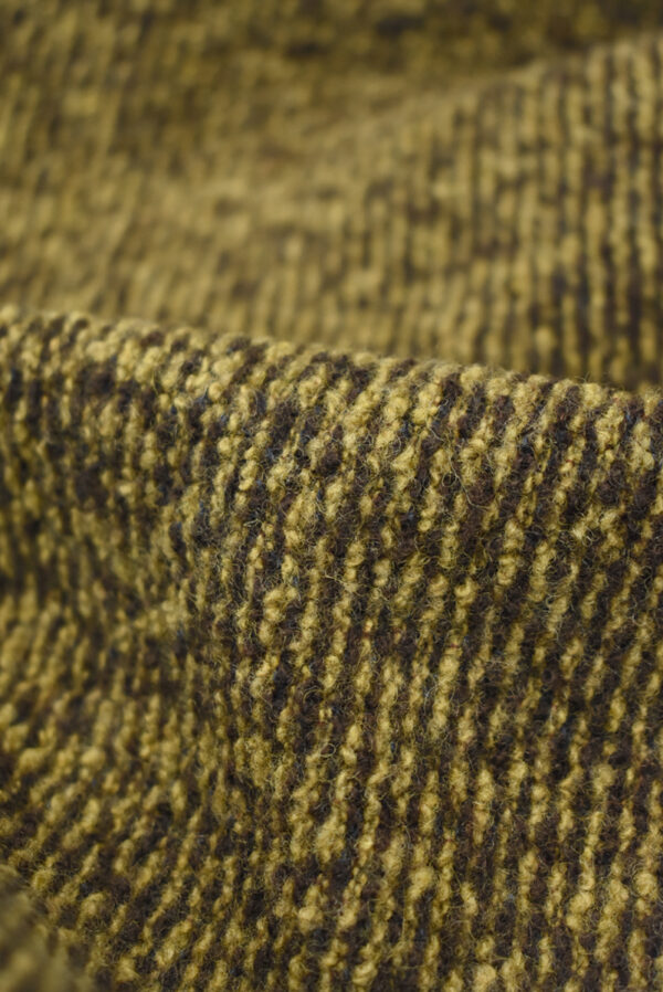 Трикотаж букле коричневый с бежевым меланж (9679) - Фото 10