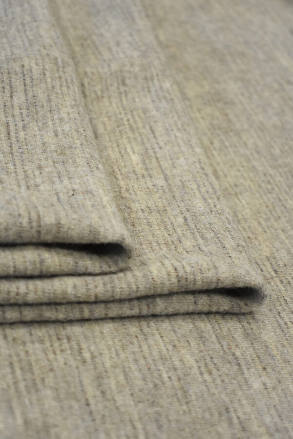 Трикотаж шерстяной бежевый меланж (9693) - Фото 9