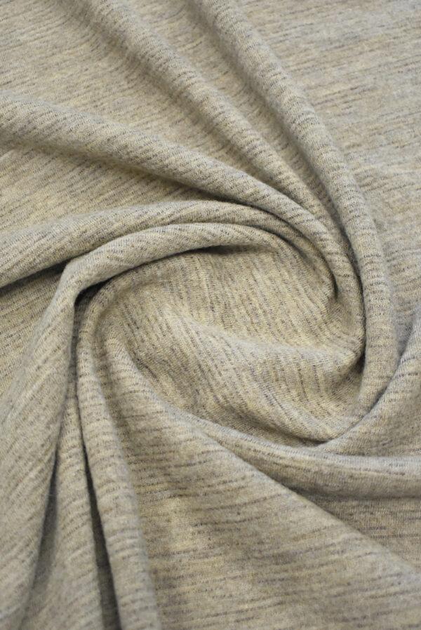 Трикотаж шерстяной бежевый меланж (9693) - Фото 8
