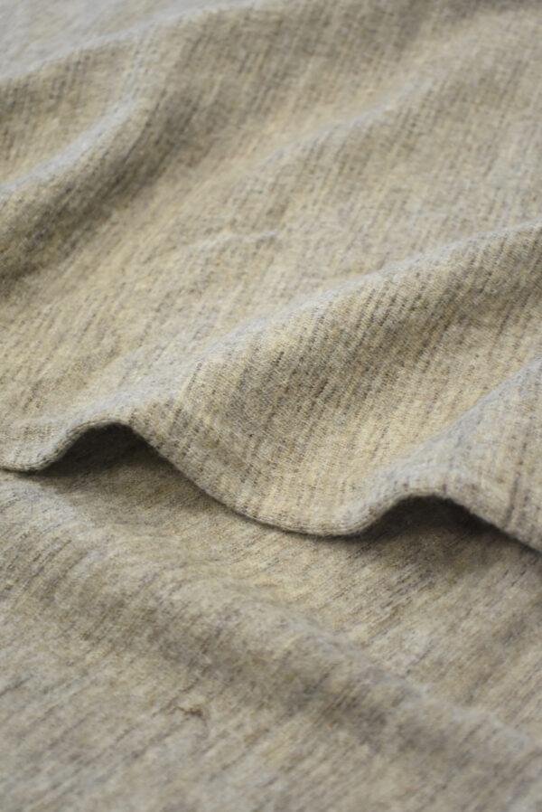 Трикотаж шерстяной бежевый меланж (9693) - Фото 10