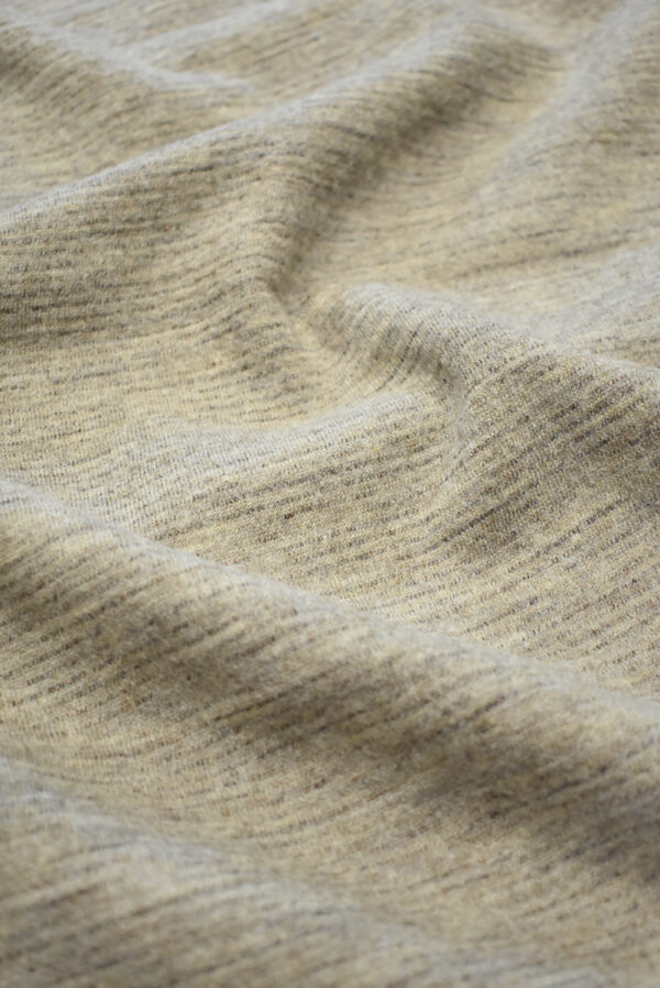 Трикотаж шерстяной бежевый меланж (9693) - Фото 6
