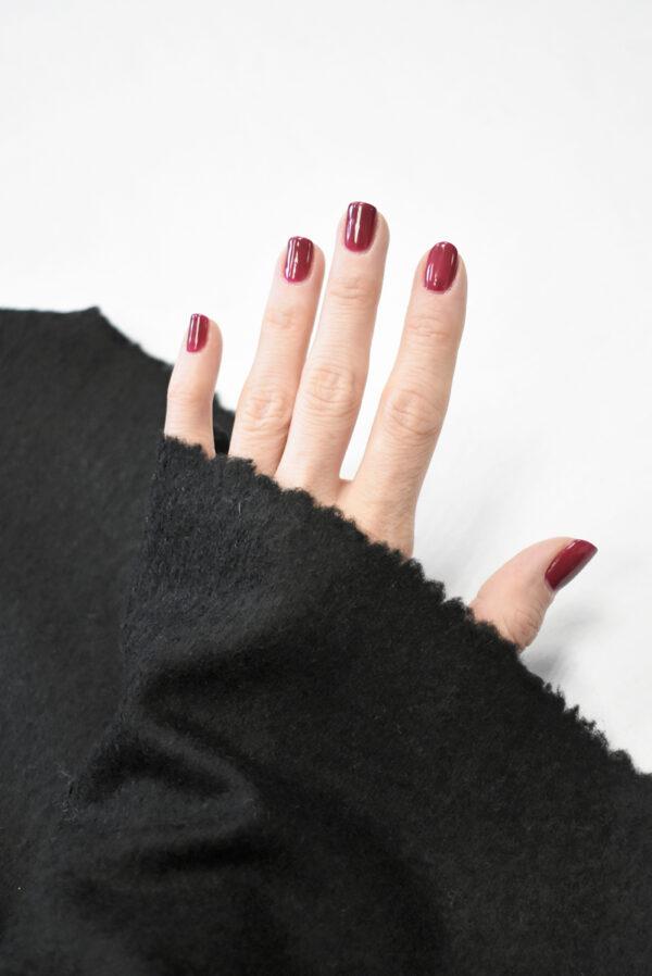 Трикотаж черный шерсть с кашемиром (9694) - Фото 10