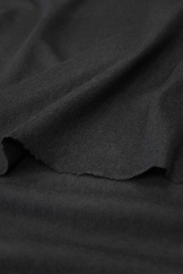 Трикотаж черный шерсть с кашемиром (9694) - Фото 9