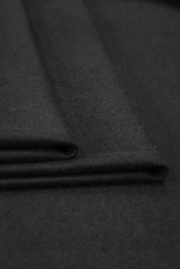 Трикотаж черный шерсть с кашемиром (9694) - Фото 7