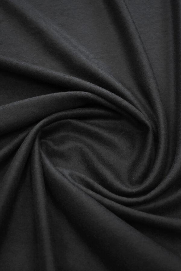 Трикотаж черный шерсть с кашемиром (9694) - Фото 8