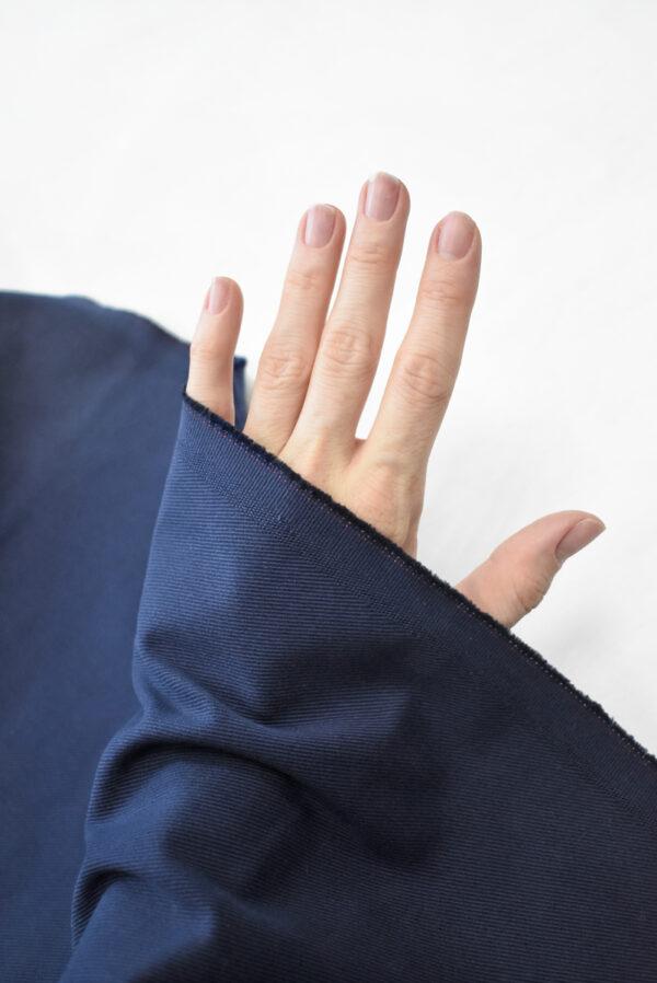 Костюмный хлопок стрейч темно-синий в рубчик (9701) - Фото 11