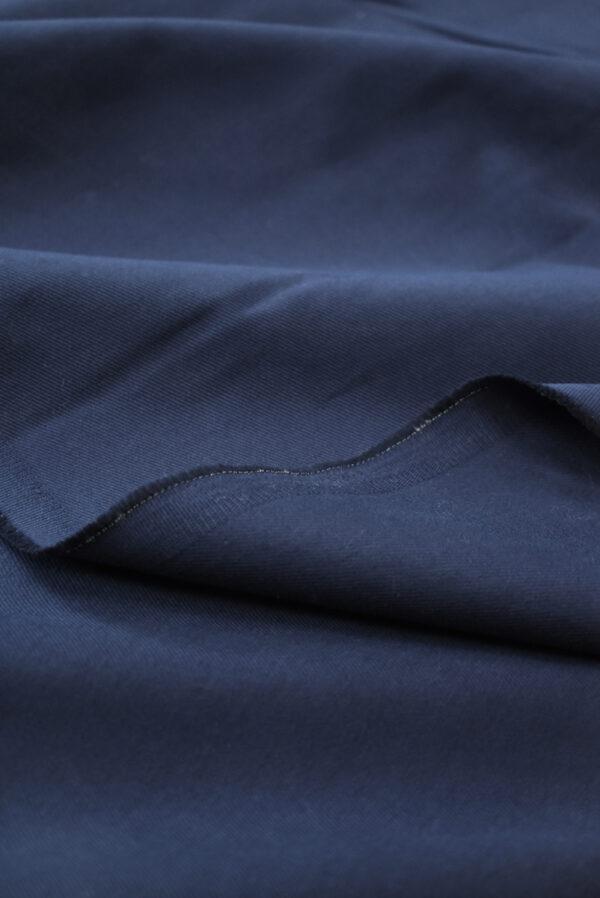 Костюмный хлопок стрейч темно-синий в рубчик (9701) - Фото 10