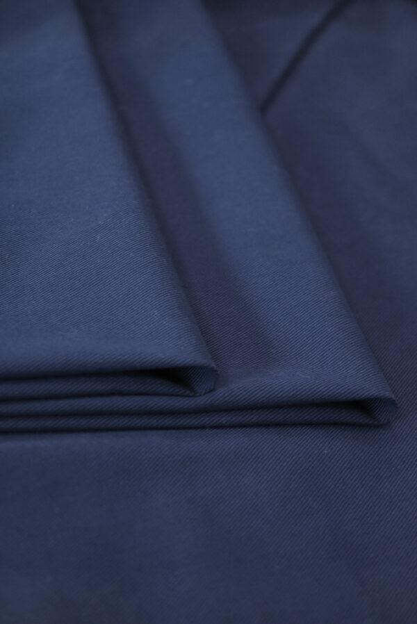 Костюмный хлопок стрейч темно-синий в рубчик (9701) - Фото 8